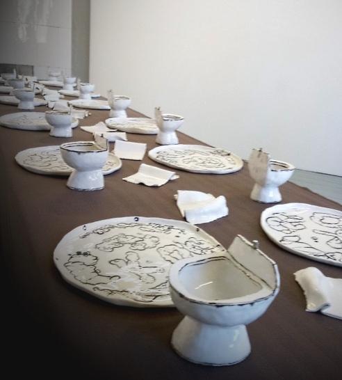 Harrie Liveart, illallispöytä